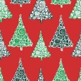 Fondo di Natale dagli abeti decorativi Immagini Stock Libere da Diritti