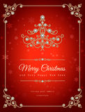 Fondo di Natale dei gioielli Fotografia Stock
