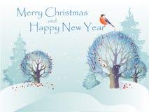 Fondo di Natale dell'estratto dell'illustrazione di vettore Fotografia Stock Libera da Diritti