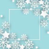 Fondo di Natale dell'estratto dell'illustrazione di vettore Immagine Stock