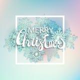 Fondo di Natale dell'estratto dell'illustrazione di vettore Fotografia Stock