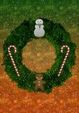 Fondo di Natale della corona Fotografia Stock