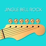 Fondo di Natale della roccia della campana di tintinnio con le campane Fotografia Stock Libera da Diritti