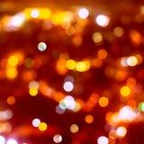 Fondo di Natale delle luci del bokeh della sfuocatura Fotografie Stock Libere da Diritti