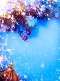 Fondo di Natale di festa di arte Fotografie Stock Libere da Diritti