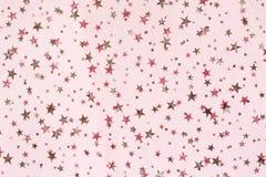Fondo di natale di lerciume del tessuto con il modello di stelle Fotografia Stock
