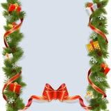 Fondo di Natale di vettore con i regali Fotografia Stock