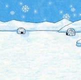 Fondo di Natale e di inverno - Illustrat dipinto Immagini Stock Libere da Diritti