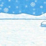 Fondo di Natale e di inverno - Illustrat dipinto Immagine Stock Libera da Diritti