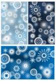 Fondo di Natale nel blu di vettore Fotografia Stock Libera da Diritti