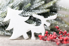 Fondo di Natale nello stile d'annata Cartolina d'auguri Fotografie Stock Libere da Diritti