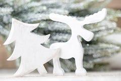 Fondo di Natale nello stile d'annata Cartolina d'auguri Fotografia Stock