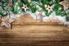 Fondo di Natale nello stile naturale Fotografia Stock