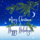 Fondo di Natale NY Fotografia Stock