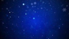 Fondo di nevicata blu di Natale del paese delle meraviglie di inverno royalty illustrazione gratis