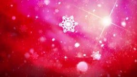 Fondo di nevicata di Natale del paese delle meraviglie di inverno illustrazione vettoriale