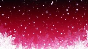 Fondo di nevicata di Natale del paese delle meraviglie di inverno illustrazione di stock