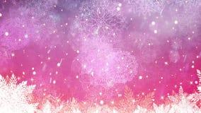 Fondo di nevicata di Natale del paese delle meraviglie di inverno royalty illustrazione gratis