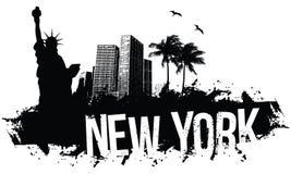 Fondo di New York Fotografie Stock Libere da Diritti
