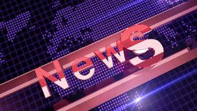 Fondo di notizie stock footage