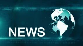 Fondo di notizie del globo generico video d archivio