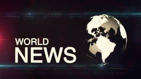 Fondo di notizie di mondo del globo generico stock footage