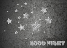 Fondo di notte della stella Immagini Stock