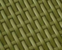 Fondo di Olive Green Basket Weave Pattern Immagini Stock