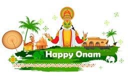 Fondo di Onam che mostra cultura del Kerala Fotografie Stock Libere da Diritti