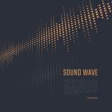Fondo di onda sonora illustrazione di stock
