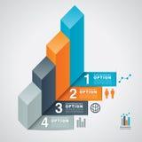 Fondo di opzione di Infographic dell'istogramma Fotografia Stock
