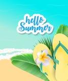 Fondo di ora legale Sunny Beach Vector Illustration Fotografia Stock