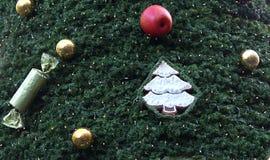 Fondo di orizzontale dell'albero di Natale Fotografia Stock