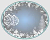 Fondo di ovale della luce di Natale royalty illustrazione gratis