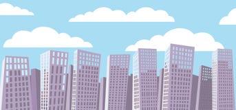 Fondo di paesaggio urbano del fumetto Fotografia Stock