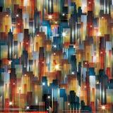 Fondo di paesaggio urbano di notte Fotografia Stock Libera da Diritti