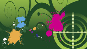 Fondo di paintball Fotografie Stock