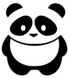Fondo di Panda Bear Isolated On White di vettore Fotografia Stock Libera da Diritti