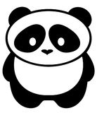 Fondo di Panda Bear Isolated On White di vettore Fotografia Stock