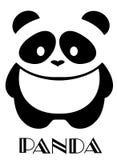 Fondo di Panda Bear Isolated On White di vettore Immagine Stock