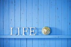 Fondo di parola del globo di vita Immagini Stock Libere da Diritti
