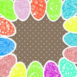 Fondo di Pasqua con le uova dell'ornamento Fotografia Stock Libera da Diritti