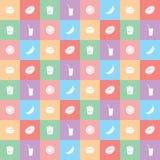 Fondo di pasto rapido di colore con il menu, illustrazione di vettore royalty illustrazione gratis