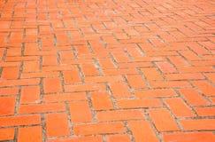 Fondo di pavimentazione arancio rettangolare del mattone Immagini Stock Libere da Diritti