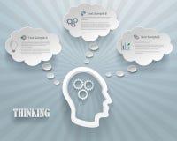 Fondo di pensiero di Infographic di opzioni Fotografie Stock