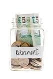 Fondo di pensionamento Fotografie Stock Libere da Diritti