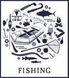 Fondo di pesca Immagini Stock