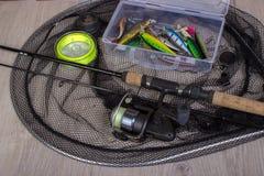 Fondo di pesca sportiva fotografia stock