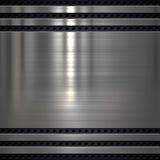 Fondo di piastra metallica Fotografia Stock