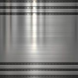 Fondo di piastra metallica fotografia stock libera da diritti